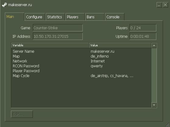 """Создание сервера CS, специально для """"новичков"""""""