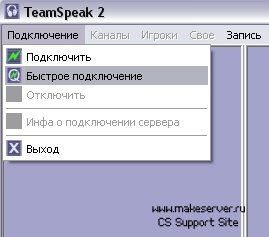 Настройка TeamSpeak