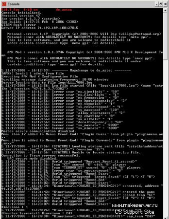 Запуск AMX сервера в консольном режиме