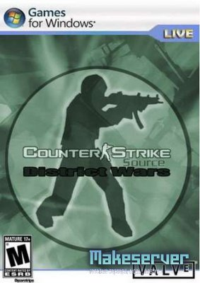 Counter-Strike Sourse v40 District Wars (2010) rus
