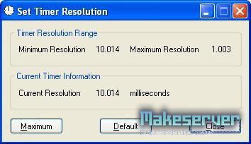 Set Windows Timer Resolution