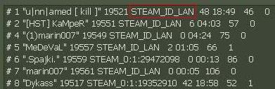 STEAM_ID_LAN Kick